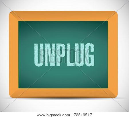 Unplug Sign Message Illustration Design