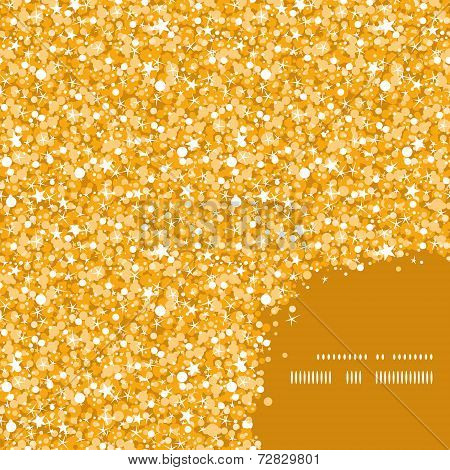 Vector golden shiny glitter texture frame corner pattern background graphic design poster