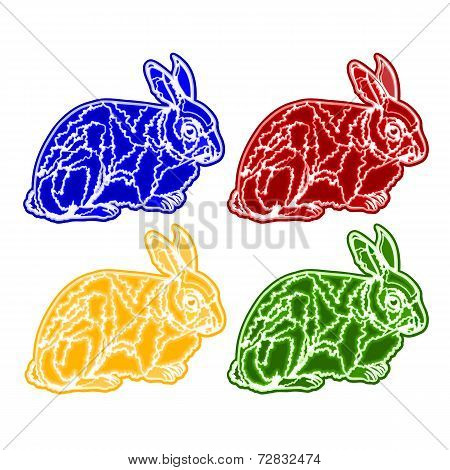 Christmas Trimmings Rabbit Faience Vector