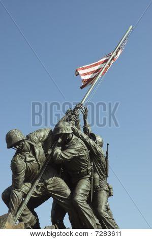 U.s. Marines Corps War Memorial Statues