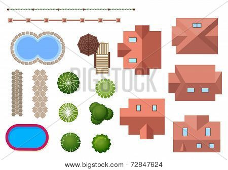 Home, landscape and property elements