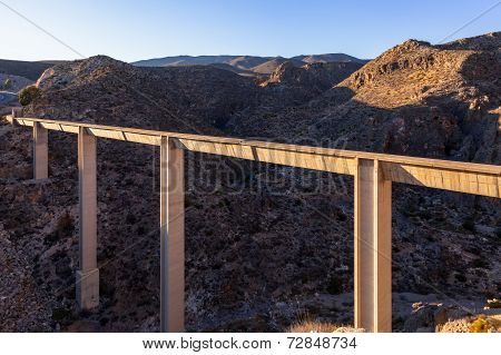 Modern Aquaduct In Spain