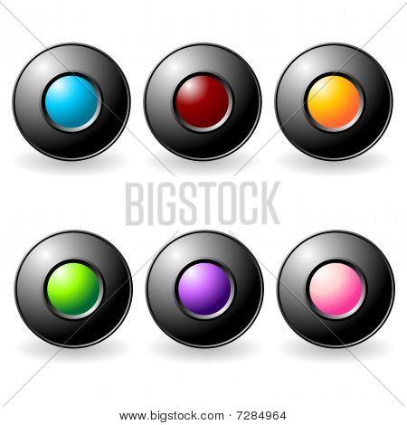 Interface Buttons Set