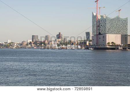 Hamburg HafenCity with the Elbe Philharmonic Hall