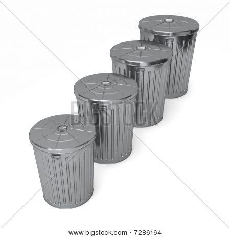 Set Of Trash Cans