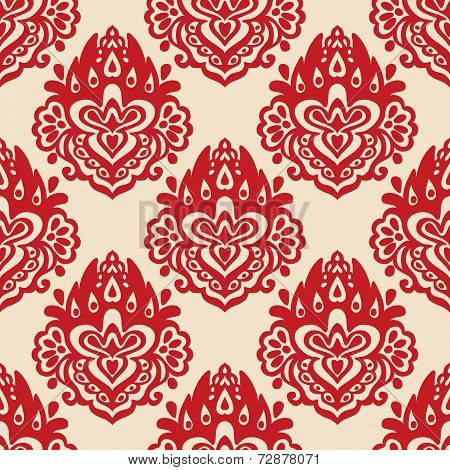 Damask seamless vector pattern florish
