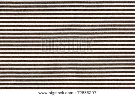 Makro shot of a White fabric with black stripes