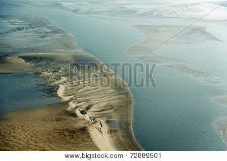 Aerial View From The Schleswig-holstein Wadden Sea National Park, Germany