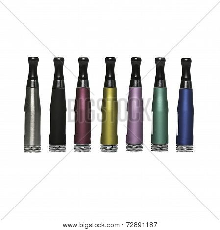 Different Coloured Atomisers In A Row
