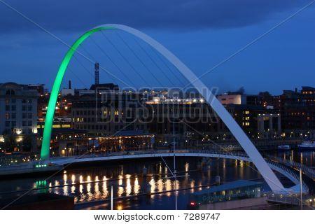 Green Gateshead Millennium Bridge