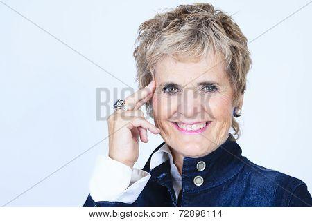 Serior woman studio portrait