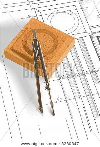 Vector part of design of door