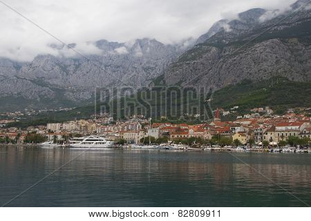 cloudy morning in Makarska, Croatia