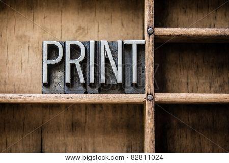 Print Letterpress Type In Drawer
