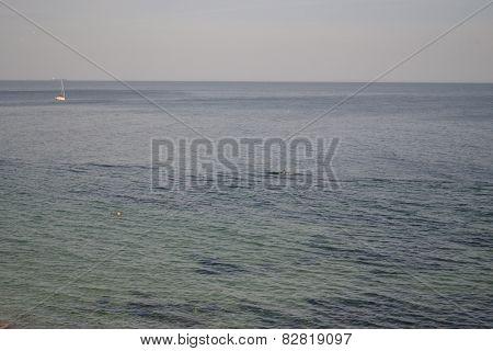 Black sea waters