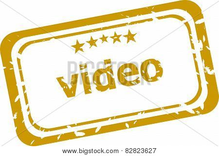 Video Stamp Isolated On White Background