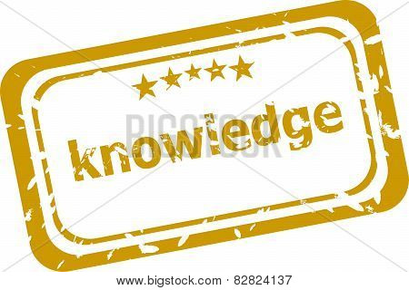 Knowledge Red Rubber Stamps Over A White Background.