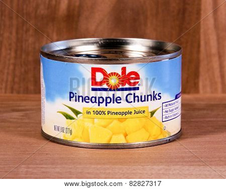 Can Of Dole Pineapple Chunks