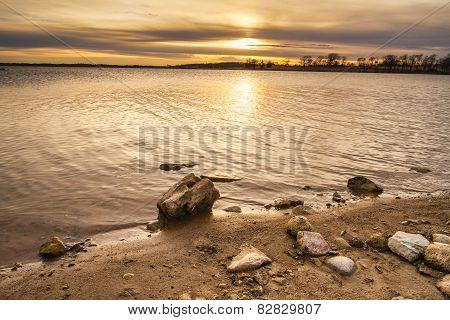 Rocky Shoreline Sunset
