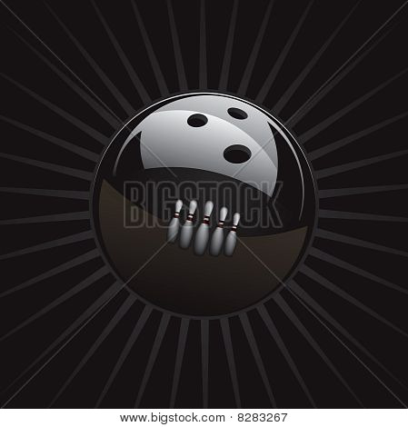 Bowling Ball and Reflection