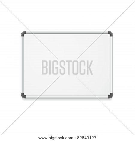 Vector empty whiteboard