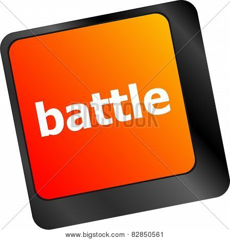 Battle Button On Computer Keyboard Pc Key