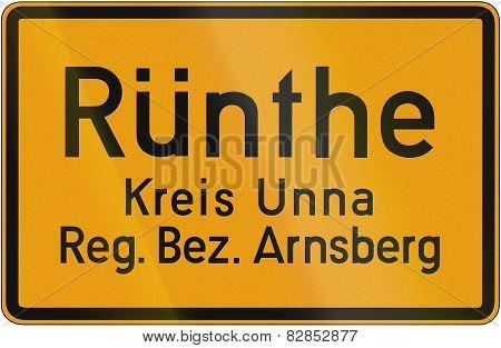 Town Sign Ruenthe