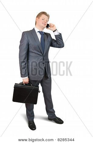 Businessman  Speaking By Mobile