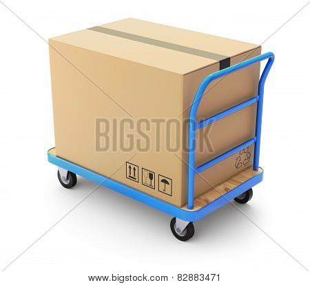 Trolley with box