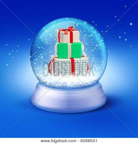 Snow Globe With Gifts