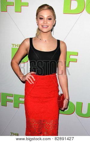 LOS ANGELES - FEB 12:  Olivia Holt at the