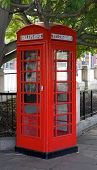 A British Telephone, red Call Box or Payphone poster