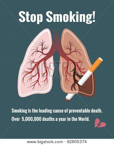 Lungs and smoking, stop smoking