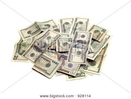 Objekte - isolierte Geld Pile