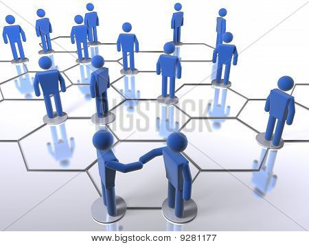 Making a deal on a business network