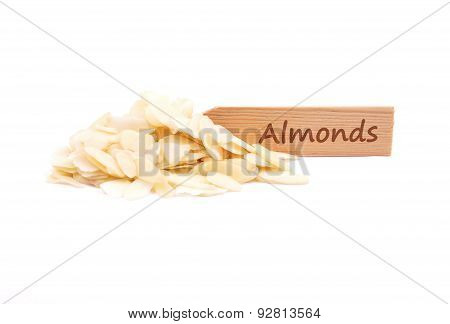 Almond Slices On Plate
