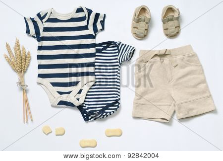 Top View Fashion Trendy Look Of Baby Boy Clothes