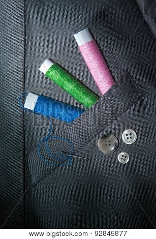 Thread And Buttons, Tools For Tailor