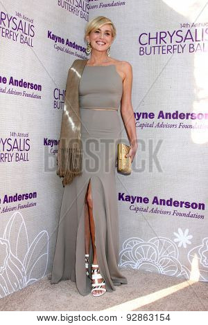 LOS ANGELES - JUN 6:  Sharon Stone at the 14th Annual Chrysalis Butterfly Ball at the Private Residence on June 6, 2015 in Los Angeles, CA