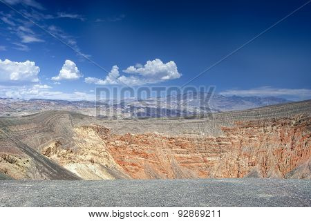 Geological Formations in Ubehebe Volcano in Death Valley National Park. The Crater is the largest crater in Death Valley and is estimated from 2000 to 7000 years old poster