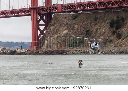 Diving under the bridge - Golden Gate