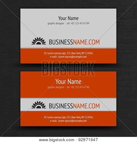 Modern Business Cards Templates Set