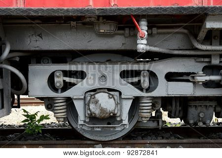 Detail of an old locomotive