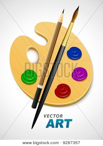 art palette and instrument for drawing