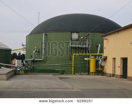 biogas digester tanks KlokoA?ov in the Czech Republic poster