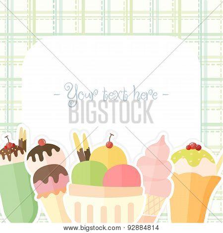 Summer Ice Cream Background