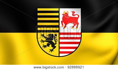 Flag Of The Elbe-elster, Germany.