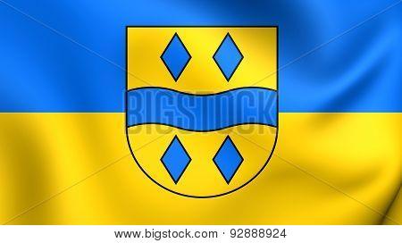 Flag Of The Enzkreis, Germany.