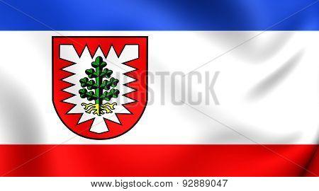 Flag Of The Pinneberg, Germany.