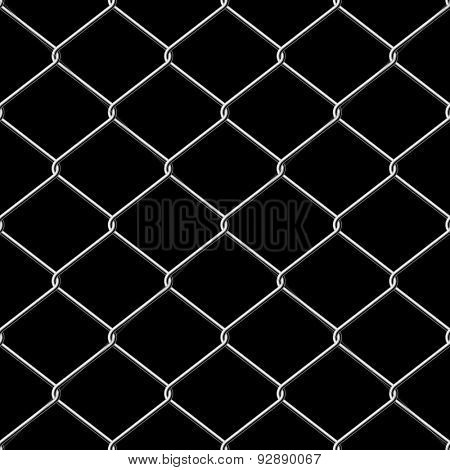 Realistic wire chainlink fence seamless texture with background.
